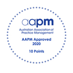 AAPM CPD Approved 2020 logo